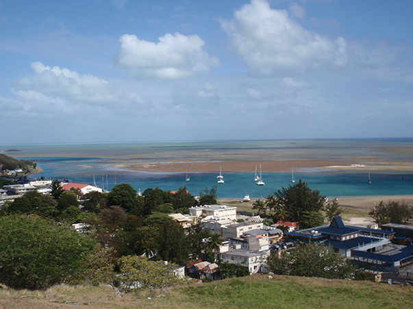 Overlooking Port Maturin on Rodrigues