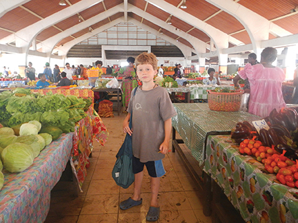 Port Vila's market offers a chance to reprovision for the onward journey