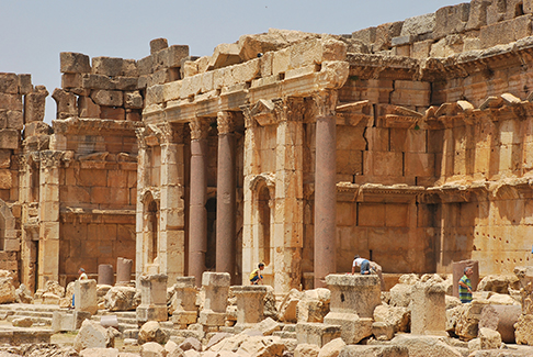 The Roman temples of Baalbeck, in the Bekaa Valley