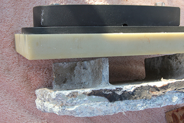 The new aluminum mast step on top of G-10 will never corrode like the all aluminum step
