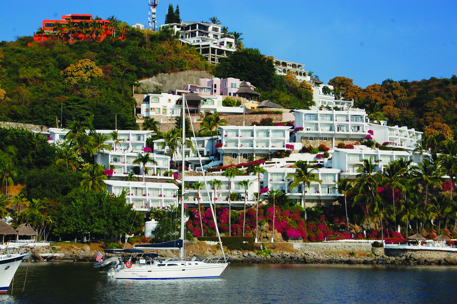 The picture perfect anchorage at Las Hadas Resort, Manzanillo