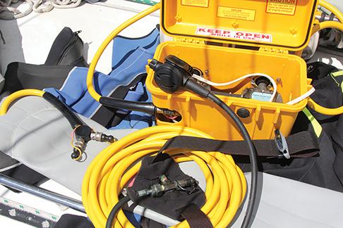 Our well used Sea Breathe hooka.