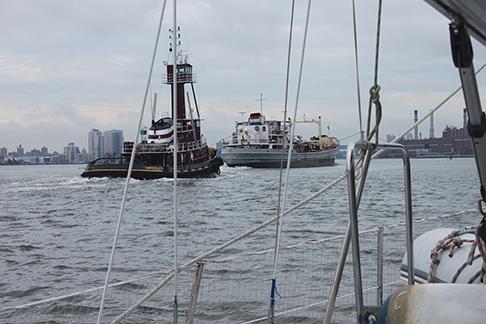 NYC boat traffic