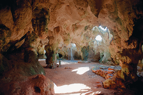 Hamilton caves were home to Lucayan Indians 500 years ago