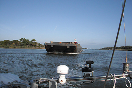 Tug and barge in the ICW
