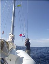 Raising the Panama flag