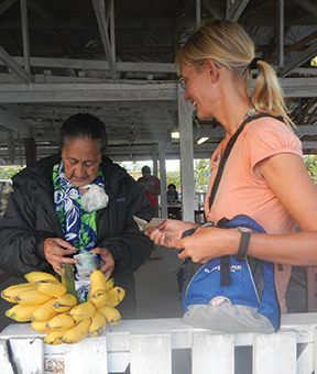 Fresh produce goes fast at the bi-weekly market