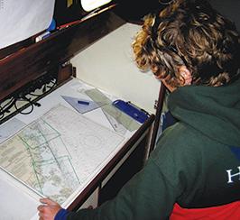 Seth at the navigation table