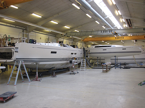 The clean lives of  X-Yachts is reflected in the factory