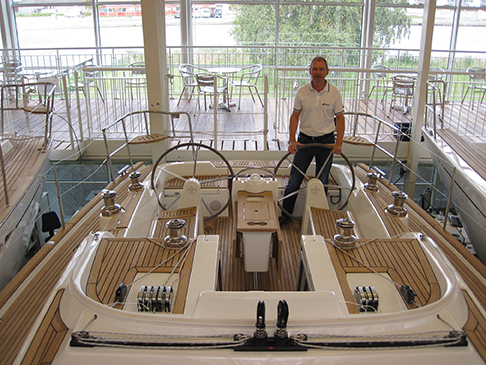 Flemming Ancher in the  X-Yachts showroom