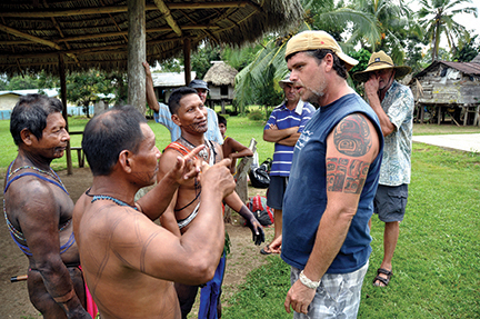 The men of La Chunga with their 'hagwa' and Ron with his permanent tattoo.