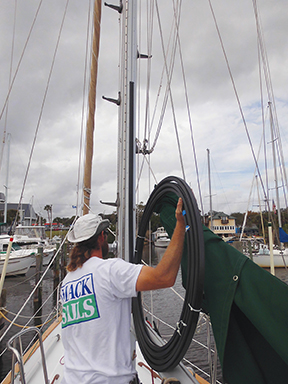 Tides Track going up the main mast