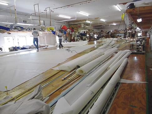 Wheres Waldo... six sailmakers at work in the Mack loft