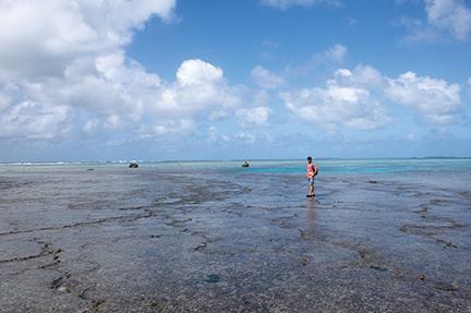 Exploring the reef at uninhabited Kenutu Island