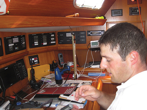 New lights at the nav station