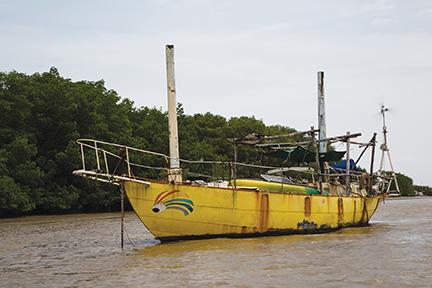 Liveaboard boat in Kourou