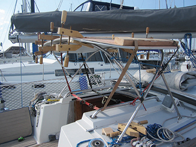 StarBoard cut, routed and ready to be bent around the frame