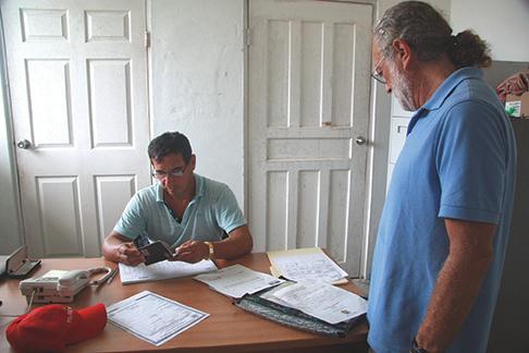 Checking into Panama in the San Blas islands