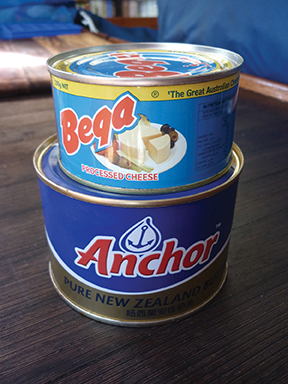 Canned cheese and butter
