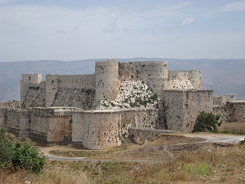 Crac des Chevaliers, one of the most intact Crusader castles in the Middle East