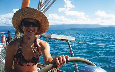 Ellen enroute to Lizard Island