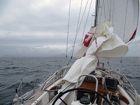 Damaged but sailing towards Cape Horn