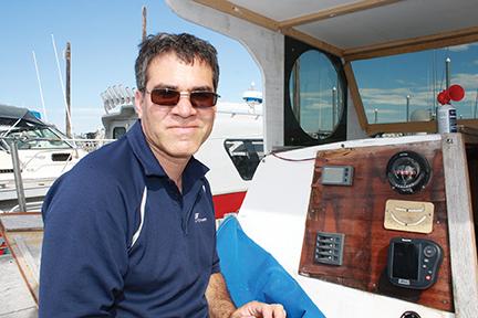 Arun on Boat