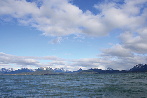 Returning - Looking at Mountains along Kachemak Bay