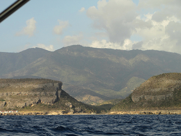 Cliffs of Cuba's south coast, just past Guantanamo Bay