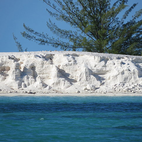 Below; sugar-white sand carved into glacial forms marks the final turn into Canalizo Cayo Largo. @B.Rumrill