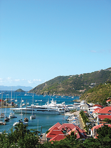Gustavia harbor, St. Barts, French West Indies