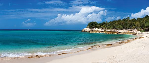 Beautiful tropical beach on St Martin Caribbean