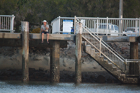This pier in Redcliffe shows the tidal variation along the Queensland coast