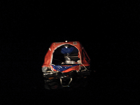 Liferafts are equipped with flares but add to the complement with flares in your ditch bag