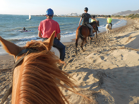 Naxos, with guests, horses, road trip 049