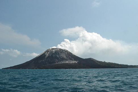 Final view of the Krakatau volcano
