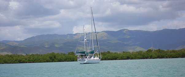 Regina Oceani behind Boca del Infierno