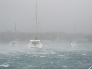 A gust during cyclone Rene