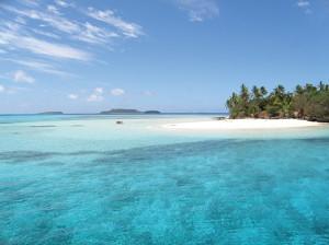 beach at tiny Nuku Island