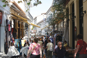 Shopping in the Plaka, Athens