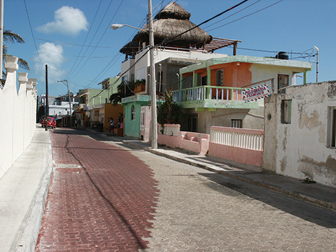 A typical side street in town