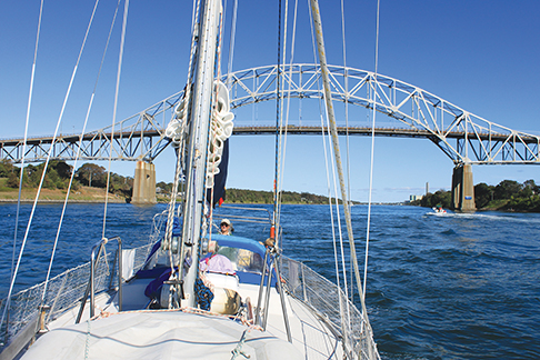Transiting the picturesque Cape Cod Canal