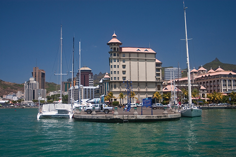 The Caudan waterfront in Port Louis, Mauritius