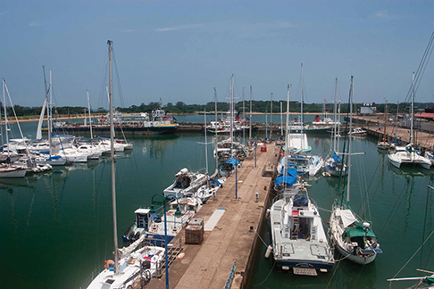 Tuzi Gazi marina in Richards Bay, South Africa