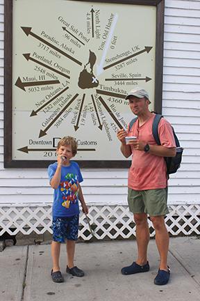 Enjoying ice cream in Block Island