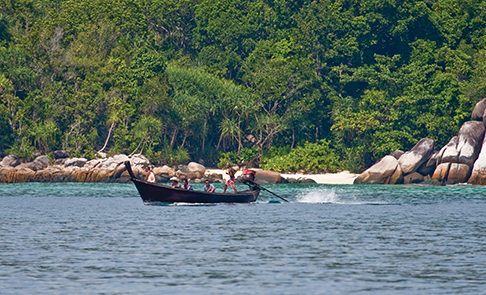 A long-tail boat in Thailand