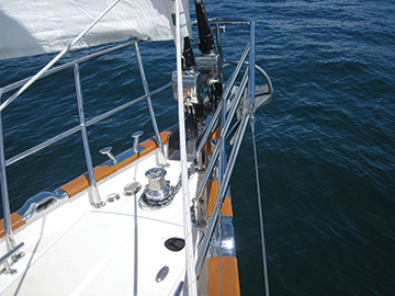 A vertical axis windlass on a Tartan 5300