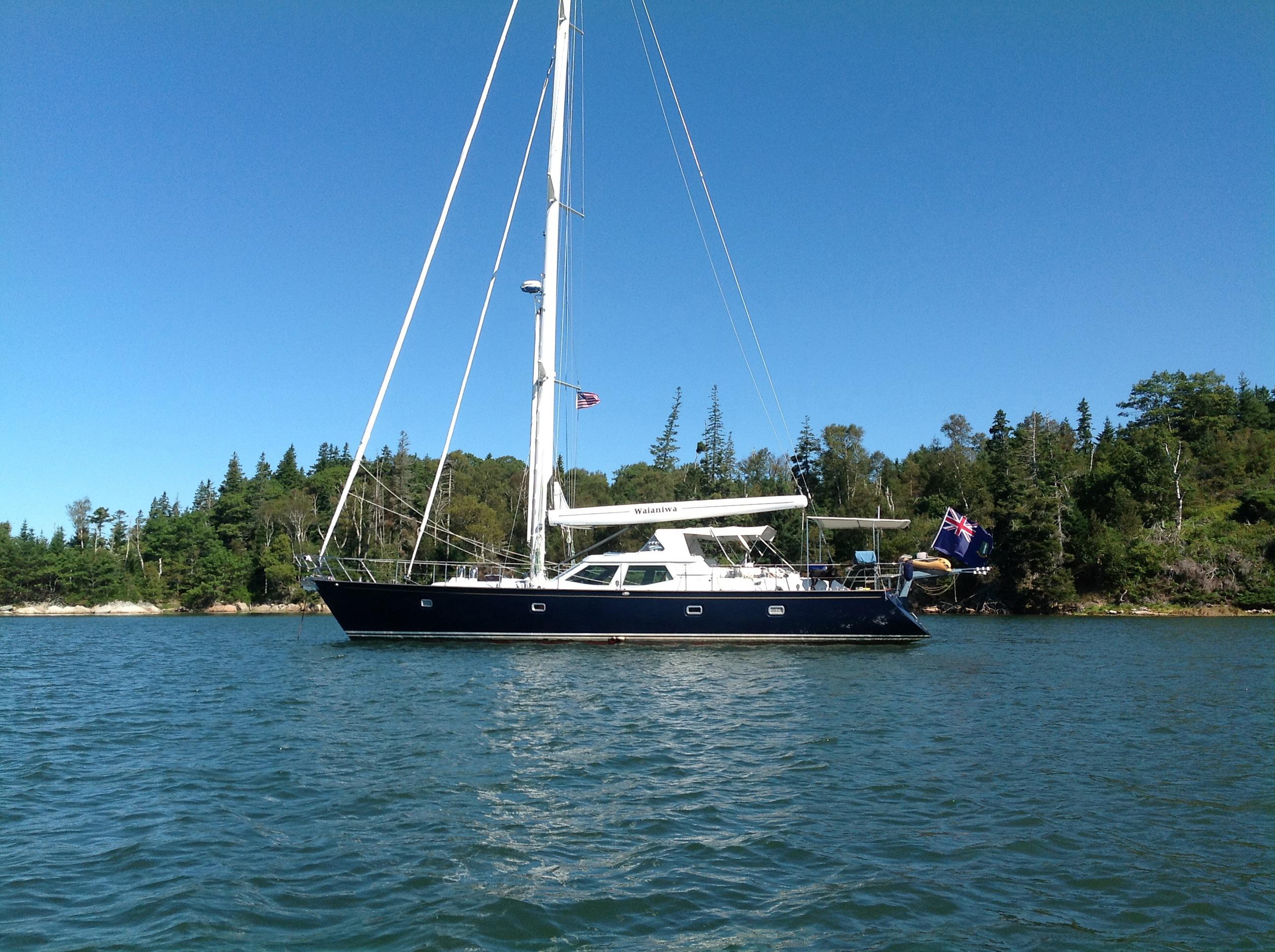 Waianiwa at anchor