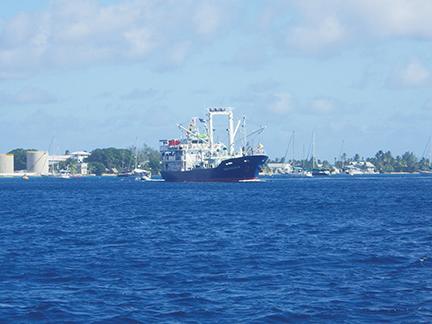 Majuro Harbour ship traffic