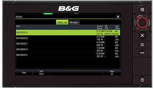 B&G Zeus2 AIS Status Messages HR PRG
